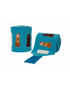 LÉTTIA Collection Embroidered Hipster Horses Polo Wraps