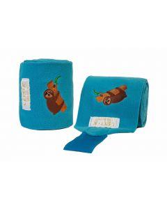 LÉTTIA Collection Embroidered Sloth Polo Wraps