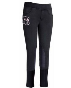 Equine Couture Children's Riding Club Winter Pull On Breeches Black