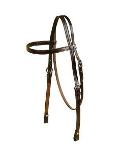 Tory Leather Oversized Brow Band Headstall With Chicago Screw Bit Ends