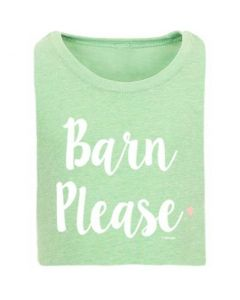"Stirrups Ladies Tee ""Barn Please"""