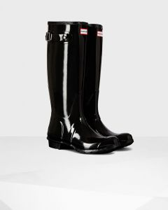 Hunter Original Tall Gloss Women's Boot - Black