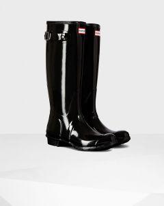 Hunter Original Tall Gloss Women's Boot - Black