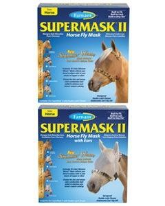 SuperMask® II Horse Fly Mask & Horse Fly Mask with Ears Shimmer Weave® Mesh Color Collection