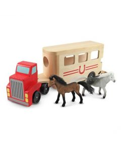 Horse Trailer Wooden Vehicles Play Set
