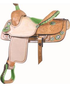 Connie Combs All Around Saddle Lime