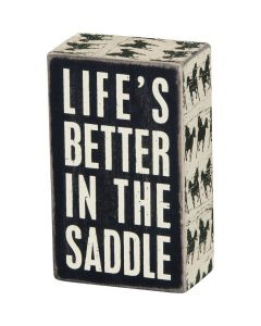 Box Sign - In The Saddle