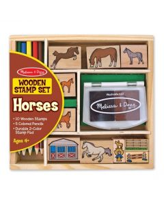 Horses - Wooden Stamp Set